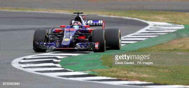 Torro Rosso Daniil Kvyat during second practice of the 2017 British Grand Prix at Silverstone Circuit Towcester