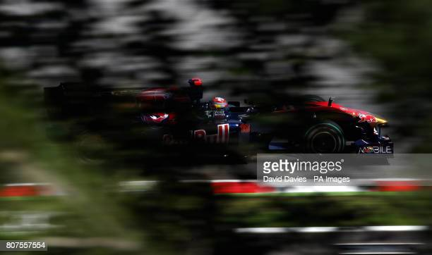 Torro Rosso's Sebastian Buemi during qualifying at the Catalunya Circuit Barcelona