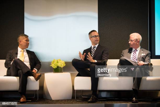 Torsdon Poon transaction tax leader of Ernst Young LLP from left Mark Strefling chief operating officer of Whitebox Advisors LLC and Howard Mills...