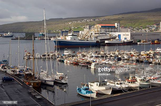 Thorshaven Harbour, den Färöer-Inseln