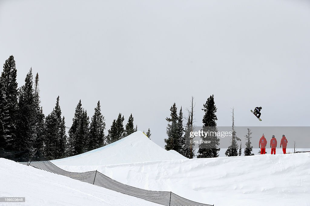 Torstein Horgmo of Norway competes in the FIS Snowboard Slope Style World Cup finals at the US Grand Prix on January 11, 2013 in Copper Mountain, Colorado.