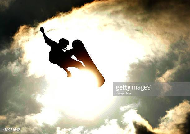 Torstein Horgmo of Norway completes in the Snowboard during Shaun White Presents Air Style at Rose Bowl on February 21 2015 in Pasadena California
