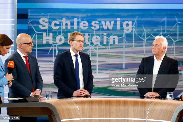 Torsten Albig incumbent candidate of the German Social Democrats Daniel Guenther lead candidate of the German Christian Democrats and Wolfgang...