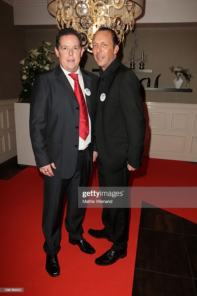 Torsten Heim (Toto) and Thomas Weinkauf (Harry) attend the Silver Fox Charity Gala at Hotel van der Falk on December 22, 2012 in Moers, Germany.