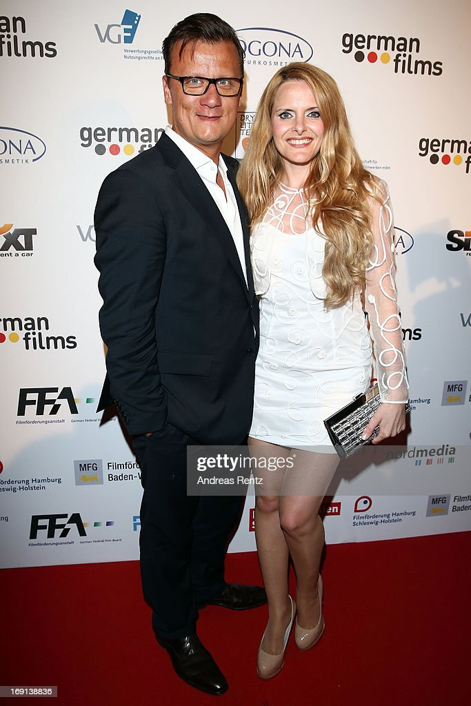 Torsten Koch and Daniela Vukovic attend the German Films reception during the 66th Annual Cannes Film Festival at the Majestic Beach on May 20, 2013 in Cannes, France.