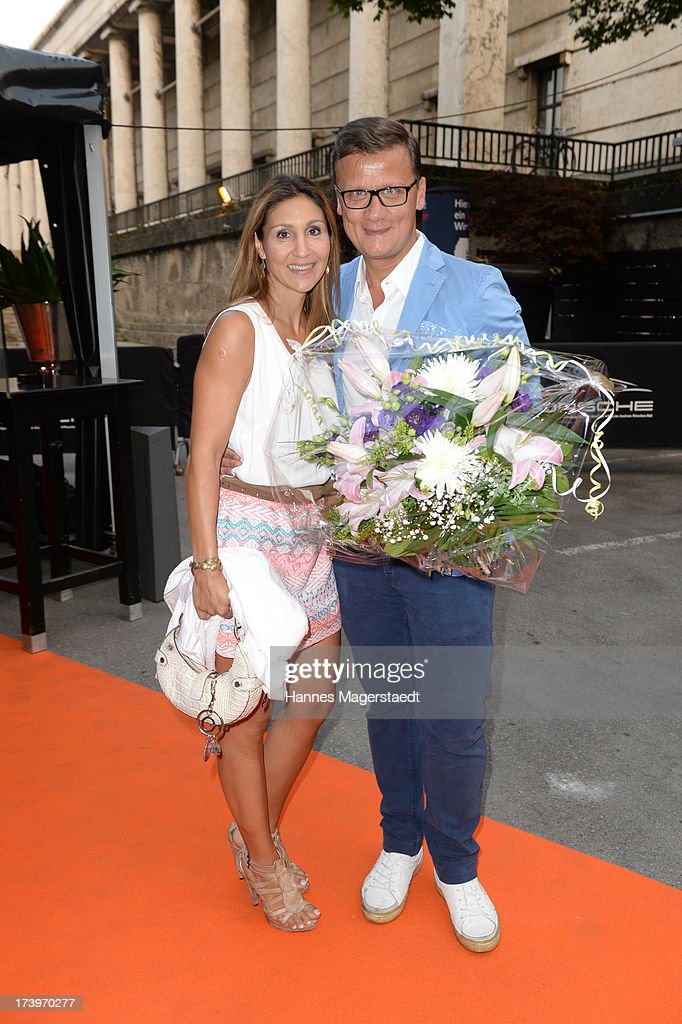 Torsten Koch and his girlfriend Ruxandra Nitschke attend the Verena Kerth birthday party at P1 on July 18, 2013 in Munich, Germany. Kerth also celebrated the release of the new Playboy issue with her on the cover.