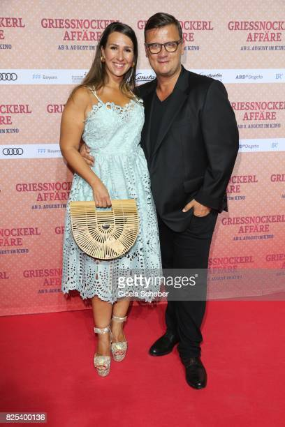 Torsten Koch and his wife Annika Koch during the 'Griessnockerlaffaire' premiere at Mathaeser Filmpalast on August 1 2017 in Munich Germany
