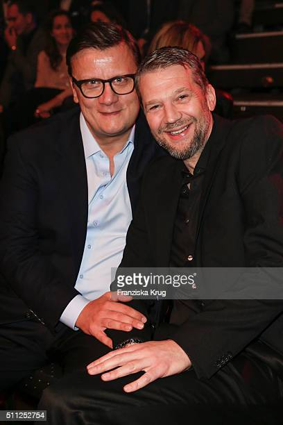Torsten Koch and Kai Wiesinger attend the 99FireFilmAward 2016 at Admiralspalast on February 18 2016 in Berlin Germany
