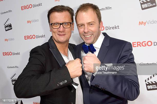Torsten Koch and Stefan Kiwit attend the 5th '99FireFilmsAward' Red Carpet Arrivals at Admiralspalast on February 14 2013 in Berlin Germany