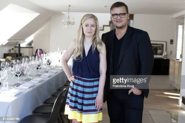 Torsten Koch and Stephanie Watine Arnault during the Clos19 dinner on July 13 2017 in Munich Germany