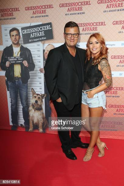 Torsten Koch director Constantin Film and Tiger Kirchharz attend the 'Griessnockerlaffaire' premiere at Mathaeser Filmpalast on August 1 2017 in...