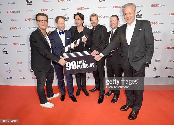 Torsten Koch Stefan Kiwit Manuel Uhlitzsch Kai Wiesinger Marco Kreuzpaintner and Peter M Endres attend the 5th '99FireFilmsAward' Red Carpet Arrivals...