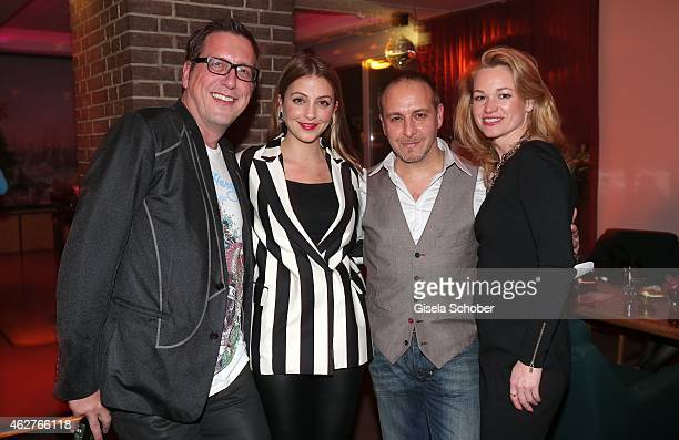 Torsten Lenkheit Arzu Bazman Erdogan Atalay and his partner Katja Ohneck during the birthday celebration of Maren Gilzer's 55th birthday on February...