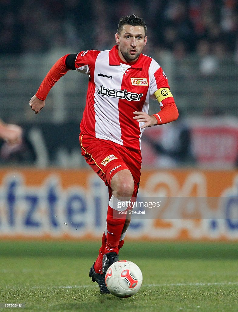 Torsten Mattuschka of Berlin runs with the ball during the Second Bundesliga match between 1. FC Union Berlin and 1. FC Kaiserslautern at Stadion An der Alten Foersterei on December 7, 2012 in Berlin, Germany.