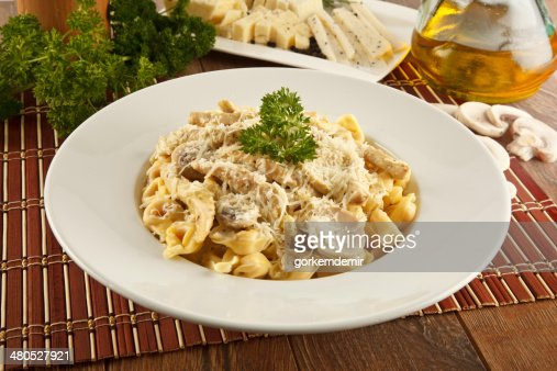 Tortellini Alfredo Cheese Ravioli - Stock Image : Stock Photo