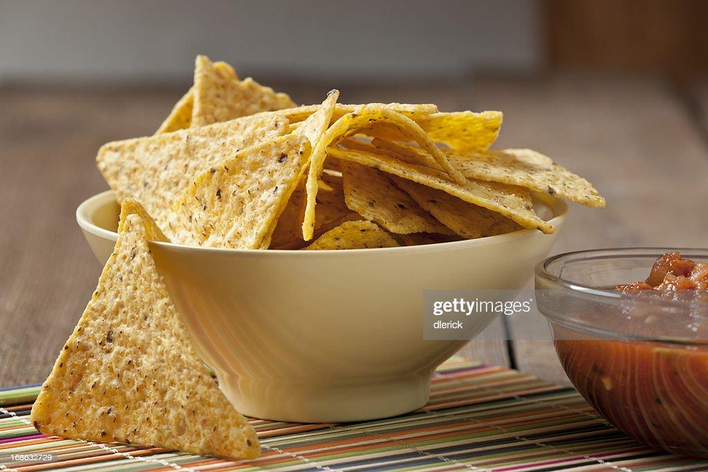 Tortilla Chips and Salsa : Stock Photo