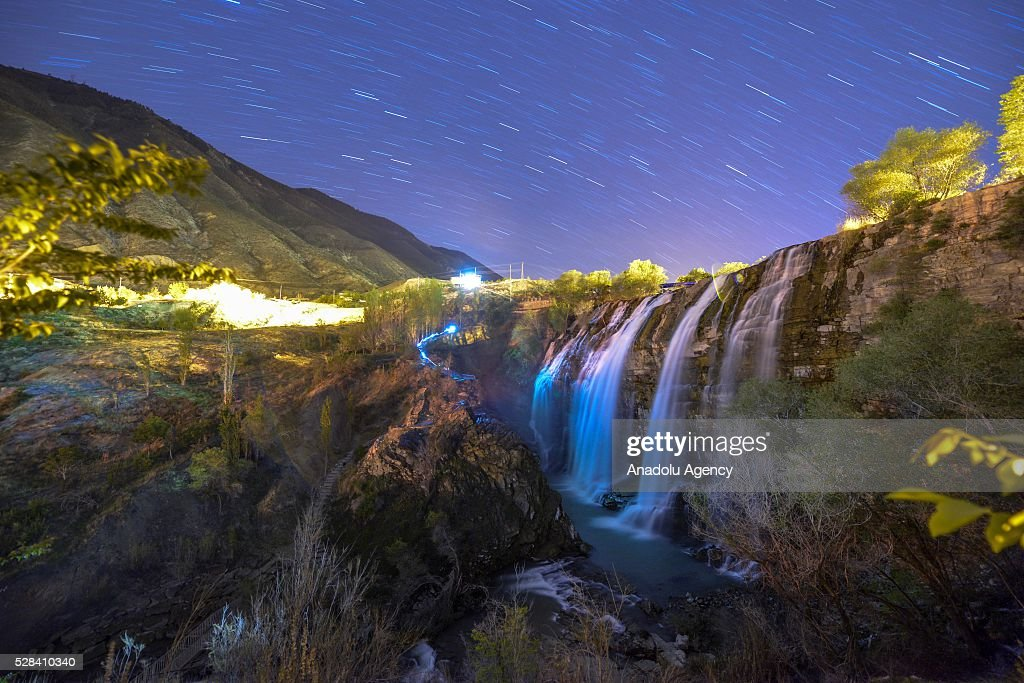 Tortum Waterfall is seen at Erzurum's Uzundere district in Turkey on May 4, 2016. Uzundere has been granted the title of cittaslow and became Turkey's 11th 'slow city' by the Italy's Cittaslow Executive Board Meeting.