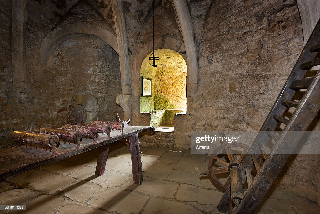 Torture chamber in the medieval Beaufort Castle Grand Duchy of Luxembourg