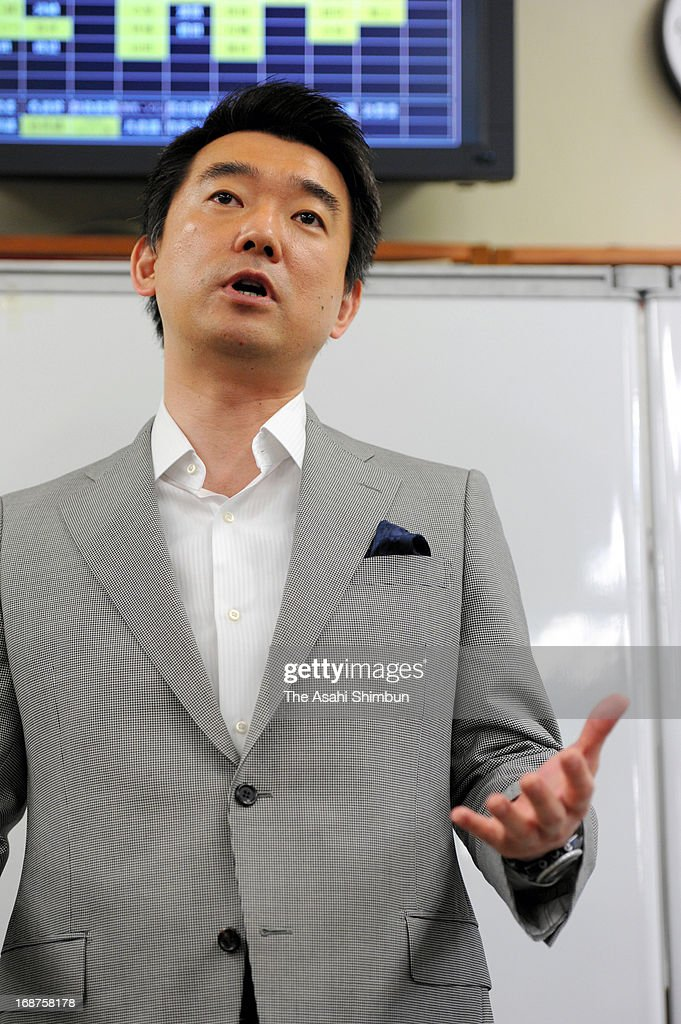 <a gi-track='captionPersonalityLinkClicked' href=/galleries/search?phrase=Toru+Hashimoto&family=editorial&specificpeople=4847016 ng-click='$event.stopPropagation()'>Toru Hashimoto</a>, Osaka mayor and co-leader of the Japan Restoration Party speaks during a press conference at Osaka City Hall on May 15, 2013 in Osaka, Japan. Hashimoto said on May 13 that 'comfort women' were necessary for Japanese soldiers during World War II, but then softened his tone, saying that they served soldiers 'against their will.'