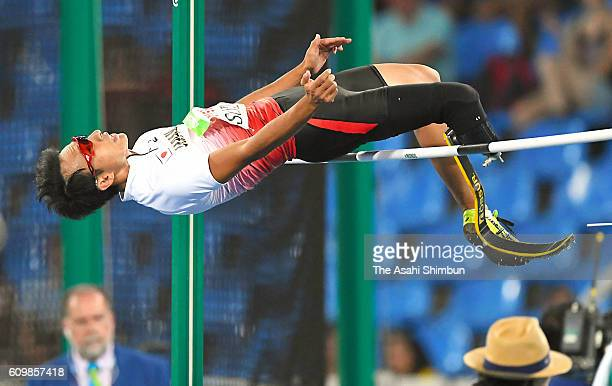 Toru Suzuki of Japan competes in the Men's High Jump T44 Final on day 5 of the 2016 Rio Paralympic Games at the Olympic Stadium on September 12 2016...