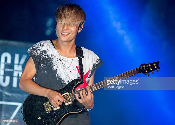 Toru Yamashita of One OK Rock performs at The Palace of Auburn Hills on July 27 2016 in Auburn Hills Michigan