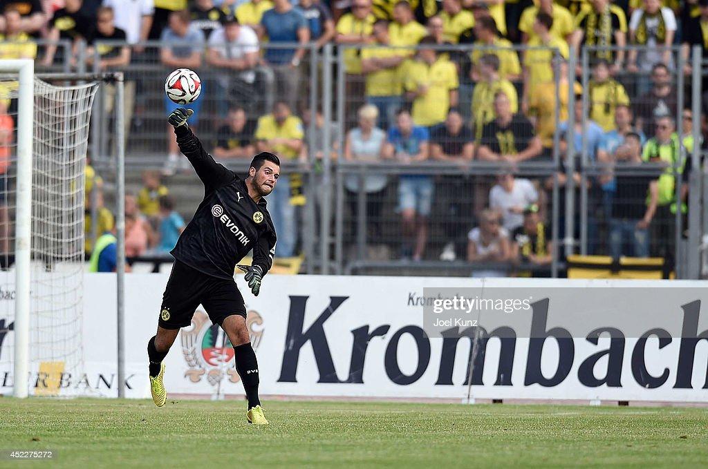 Torwart Zlatan Alomerovic of Borussia Dortmund in action during the Hessen Kassel v Borussia Dortmund Friendly Match on July 15 2014 Kassel Germany