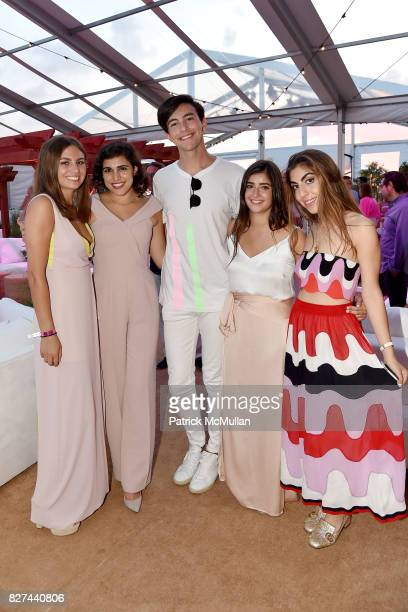 Tory Clements Yasmin Hariri Ryan Thomas Roth Sabrina Baum and Sarbi Chafik attend Sixth Annual Hamptons Paddle and Party for Pink Benefitting the...