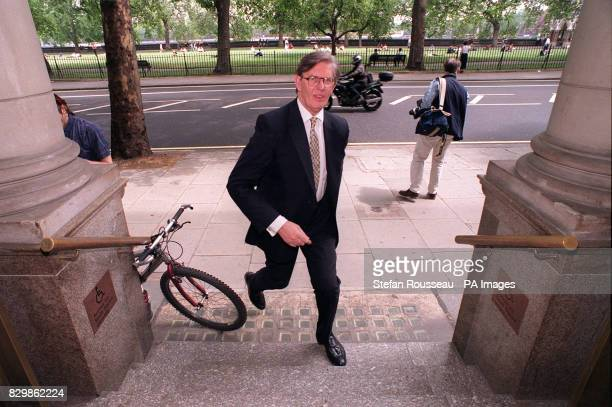 Tory Eurosceptic Bill Cash at the Millbank studios this afternoon who is presenting his Referendum Bill to the House of Commons later today The...
