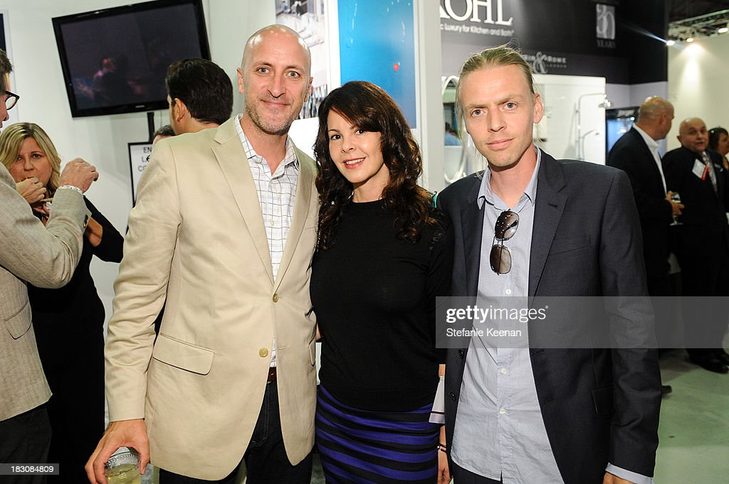 Tory Hanson, Kelly Lamb and Patrick Vader attend WestEdge Design Fair at Barker Hangar on October 3, 2013 in Santa Monica, California.