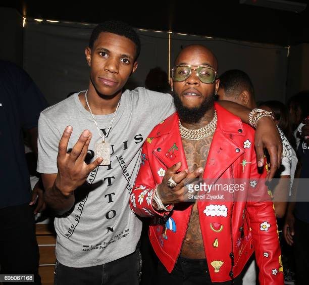 Tory Lanez and A Boogie attends HOT 97 Summer Jam 2017 at MetLife Stadium on June 11 2017 in East Rutherford New Jersey