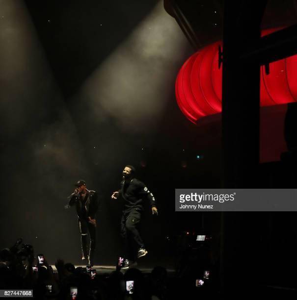 Tory Lanez and Drake Perform at OVO Fest In Toronto For Caribana 2017 on August 7 2017 in Toronto Canada