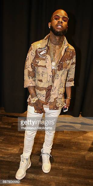 Tory Lanez backstage at Jungle Island at Port of Miami Concert on August 29 2016 in Miami Florida