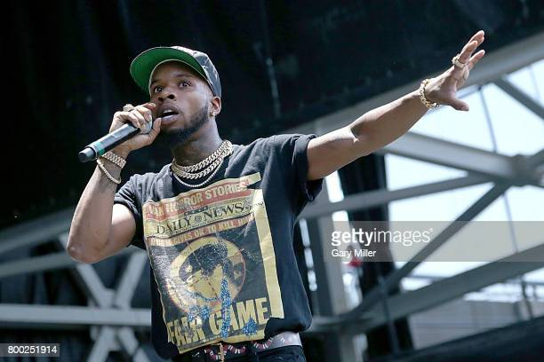 Tory Lanez performs in concert during the Future Hndrxx tour at Austin360 Amphitheater on June 23 2017 in Austin Texas
