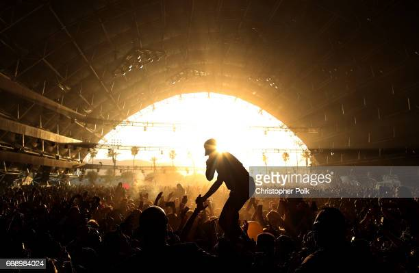 Tory Lanez performs on the Sahara Stage during day 2 of the Coachella Valley Music And Arts Festival at the Empire Polo Club on April 14 2017 in...