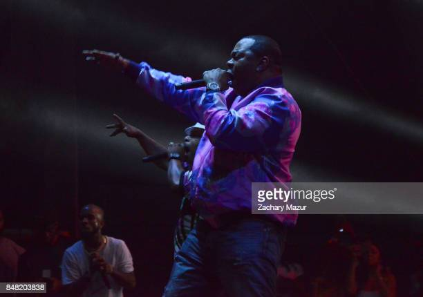 Tory Lanez Spliff Star and Busta Rhymes perform onstage during day 2 of The Meadows Music Arts Festival at Citi Field on September 16 2017 in New...