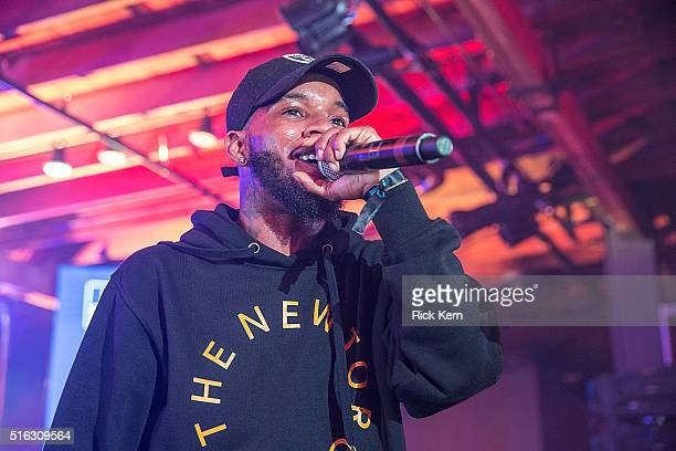Tory Lanez takes the stage at the Bud Light Factory during the Interscope Showcase on March 17 2016 in Austin Texas Bud Light Americas most popular...