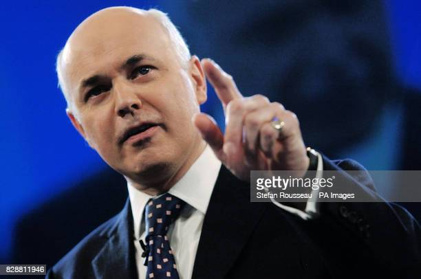 Tory leader Iain Duncan Smith delivers his speech to the Conservative Party conference in Blackpool Mr Duncan Smith today warned his party critics...