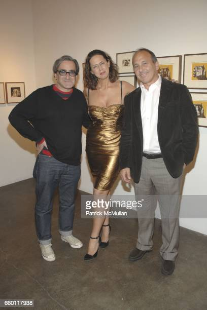 Tosh Berman Samantha Glaser and Michael Kohn attend SHE Images of women by Wallace Berman and Richard Prince Opening at Michael Kohn Gallery on...