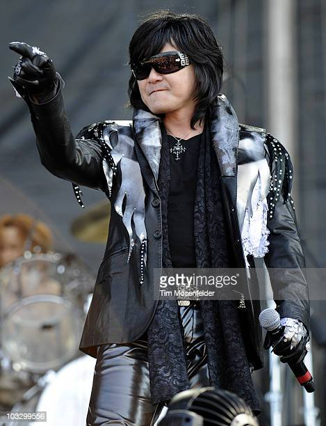 Toshi of X Japan performs as part of Lollapalooza 2010 at Grant Park on August 8 2010 in Chicago Illinois