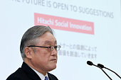 JPN: Hitachi News Conference As Japanese Conglomerate Nearing $11 Billion Power-Grid Deal With Abb Ltd.