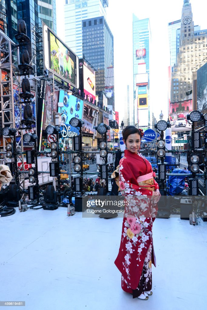 Toshiba Kimono Girl Japanese attends the Japanese New Year Countdown at Times Square on December 31, 2013 in New York City.