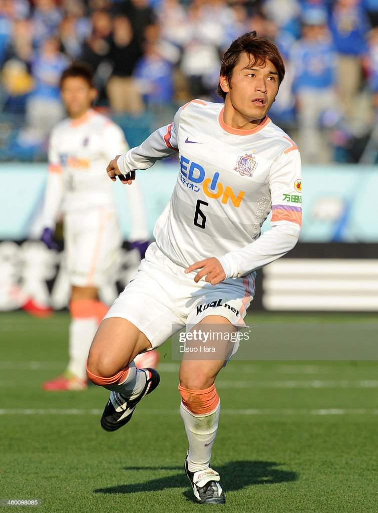Toshihiro Aoyama of Sanfrecce Hiroshima in action during the 93rd Emperor's Cup final between Yokohama F.Marinos and Sanfrecce Hiroshima at the National Stadium on January 1, 2014 in Tokyo, Japan.