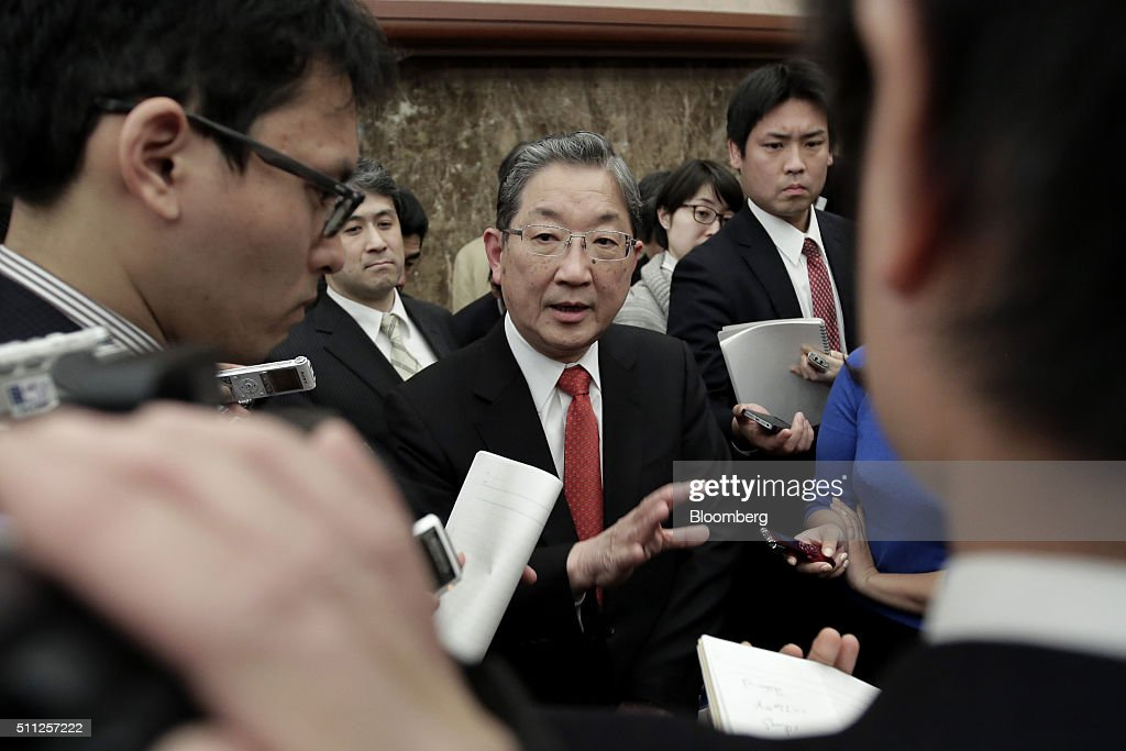 Toshiyuki Shiga chairman and chief executive officer of Innovation Network Corporation of Japan center speaks to the media after a news conference at...