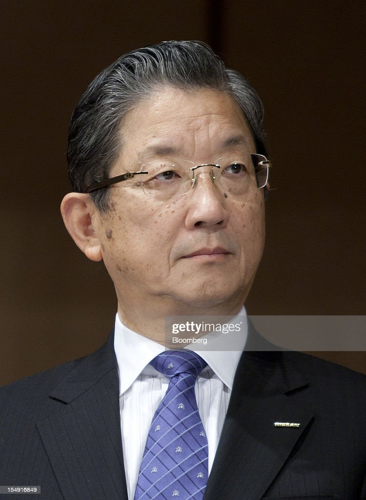 Toshiyuki Shiga chief operating officer of Nissan Motor Co attends a joint news conference hosted by the Japan Automobile Manufacturers Association...