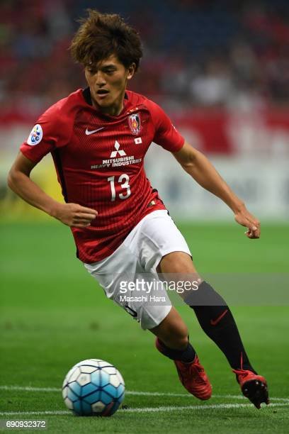 Toshiyuki Takagi of Urawa Red Diamonds in action during the AFC Champions League Round of 16 match between Urawa Red Diamonds and Jeju United FC at...