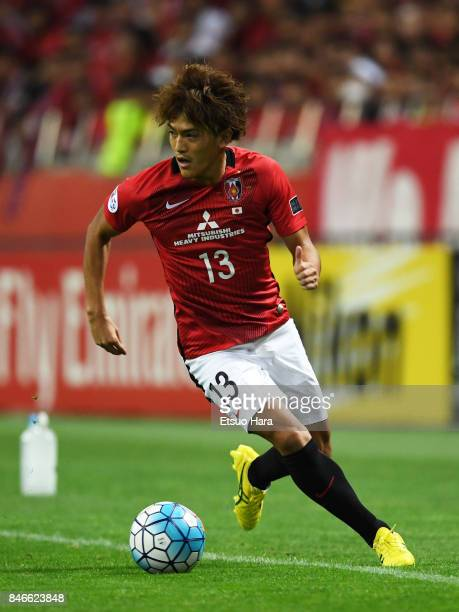 Toshiyuki Takagi of Urawa Red Diamonds in action during the AFC Champions League quarter final second leg match between Urawa Red Diamonds and...