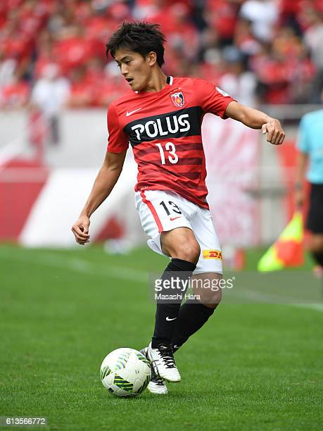 Toshiyuki Takagi of Urawa Red Diamonds in action during the JLeague Levain Cup semi final second leg match between Urawa Red Diamonds and FC Tokyo at...