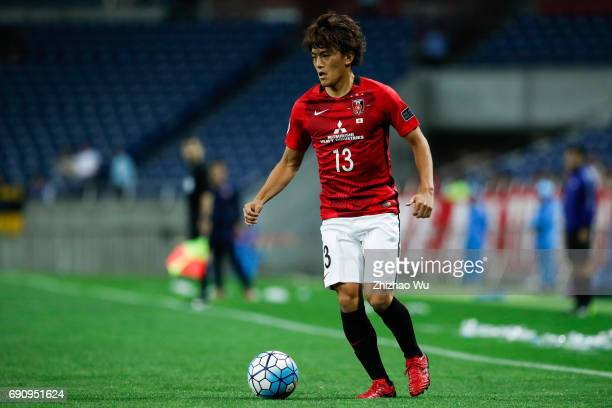 Toshiyuki Takagi of Urawa Reds Diamonds controls the ball during the AFC Champions League Round of 16 match between Urawa Red Diamonds and Jeju...