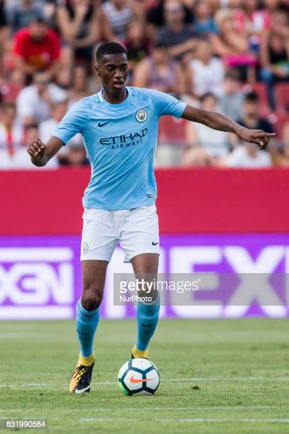 24 Tosin Adarabioyo from England of Manchester City during the Costa Brava Trophy match between Girona FC and Manchester City at Estadi de Montilivi...