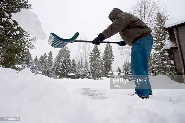 Herumwerfen Schnee